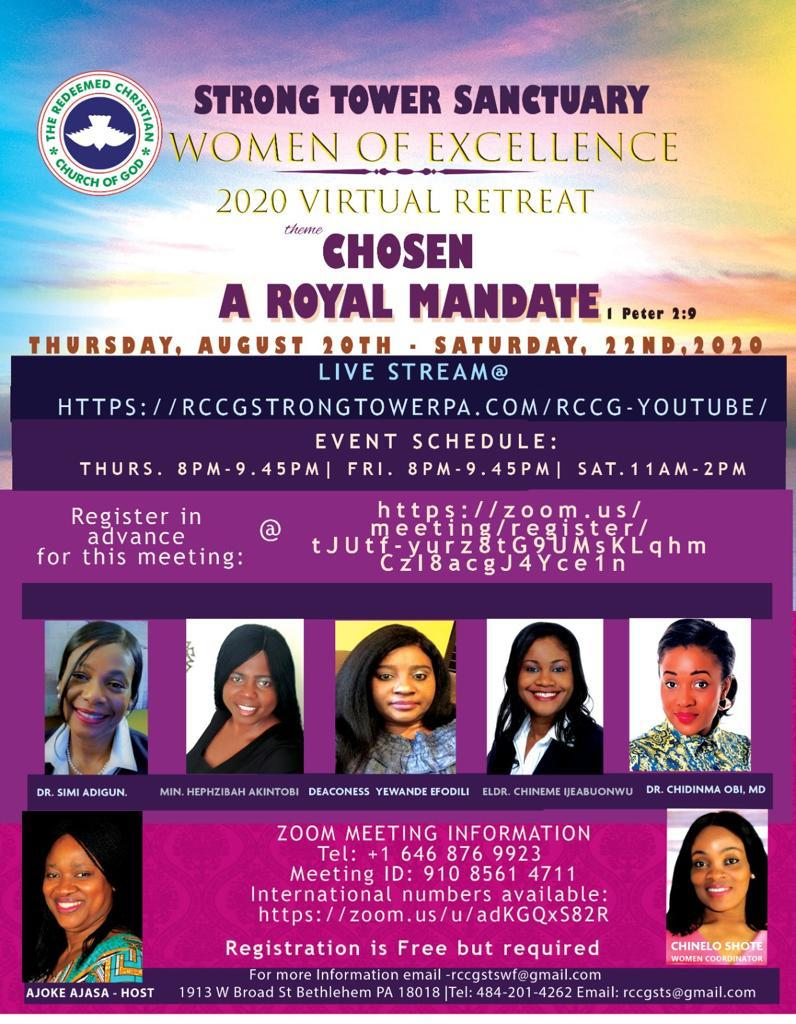 WOMEN OF EXCELLENCE VIRTUAL RETREAT